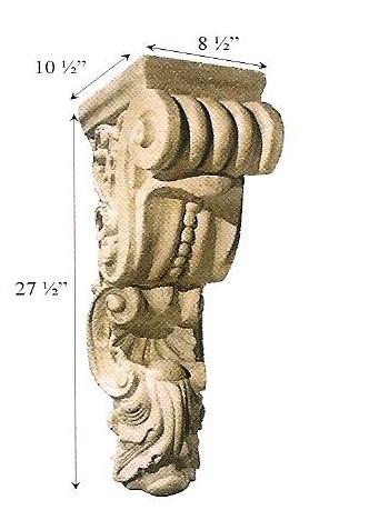 Architectural Stone Shell Corbel