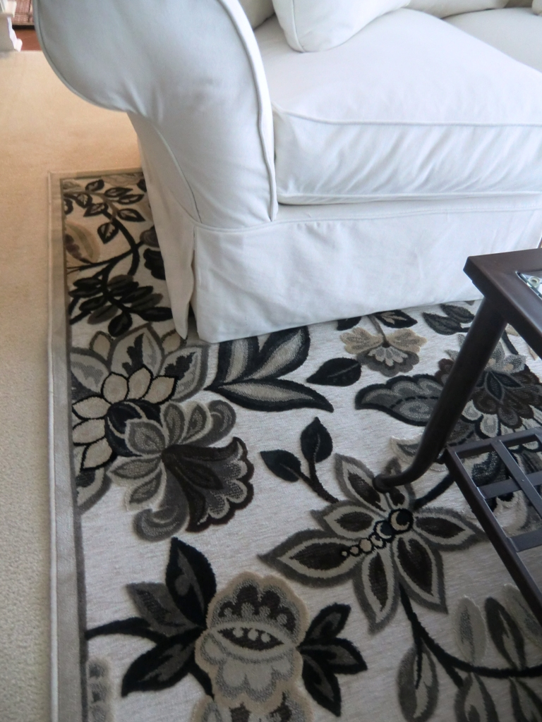 Transitional silk rug