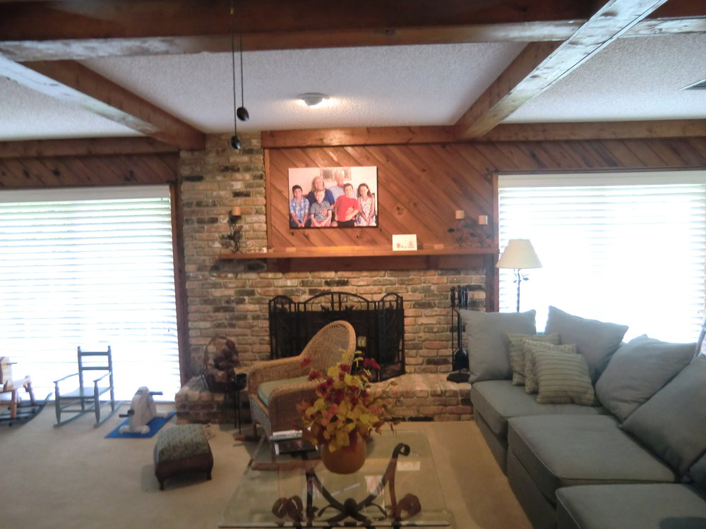 Living room and fireplace remodel in Saint Andrews Country Club Boca Raton, 33496