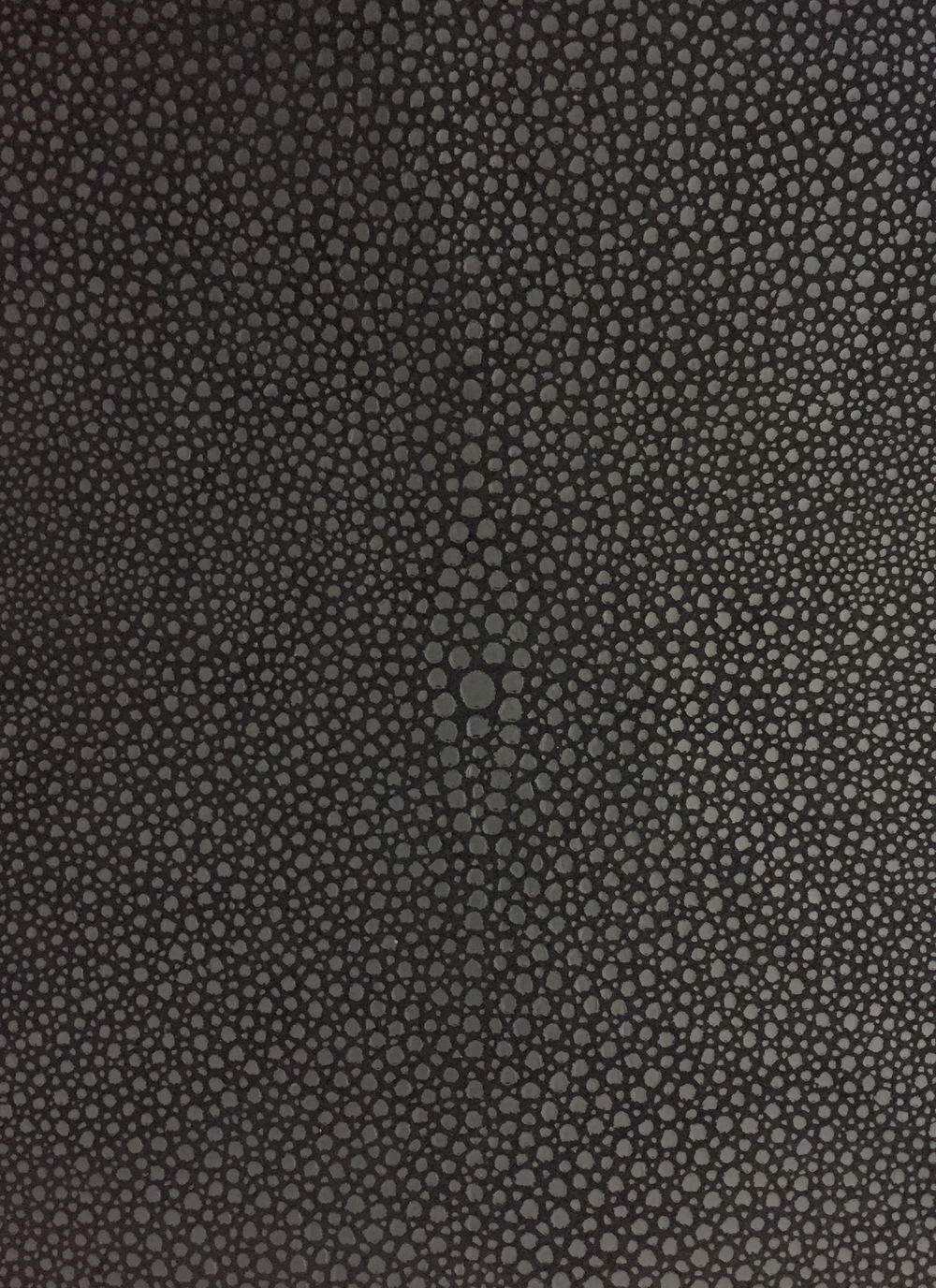 Shagreen Print gunmetal metallic on black
