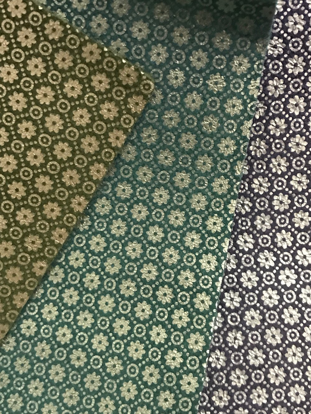 NEW! Vincent Van Floral Collection. available in Peridot Green, Peacock & Indigo Suede leather with metallic effect!
