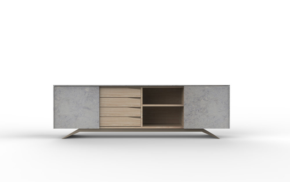Trigono Sideboard Ataija Marbe Oak Wood