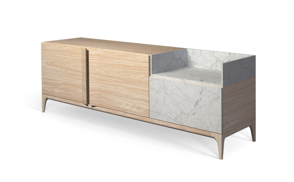 Storm Wood Sideboard Side view