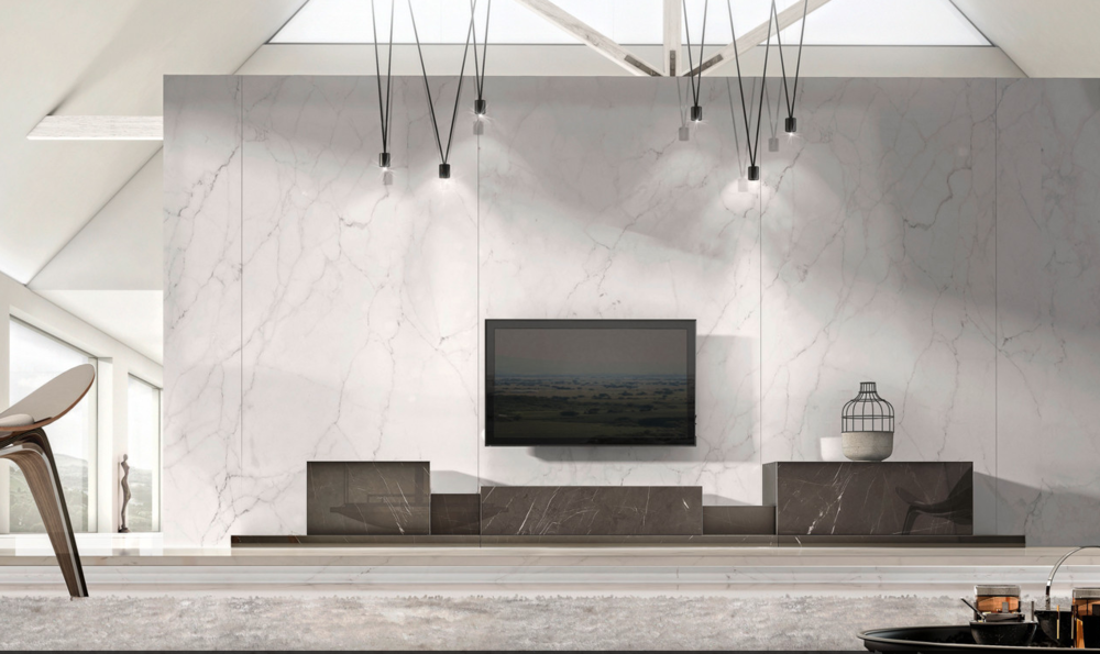 Podium Sideboard in Grey Kenzo Marble
