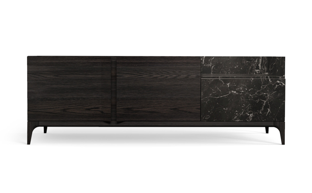 Strom Sideboard in Nero Marquina Black Oak