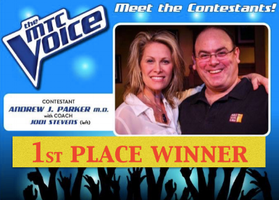 Coach to first place winner of 1st Annual MTC's THE VOICE COMPETITION