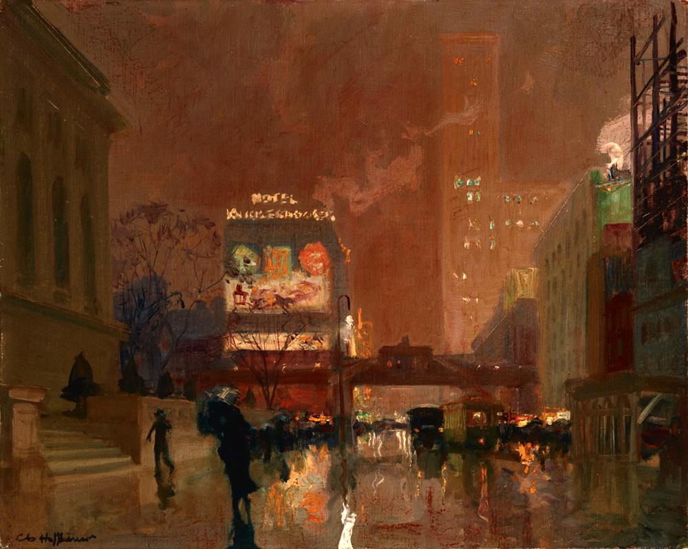 artishardgr :       Charles Hoffbauer   -  New York Public Library