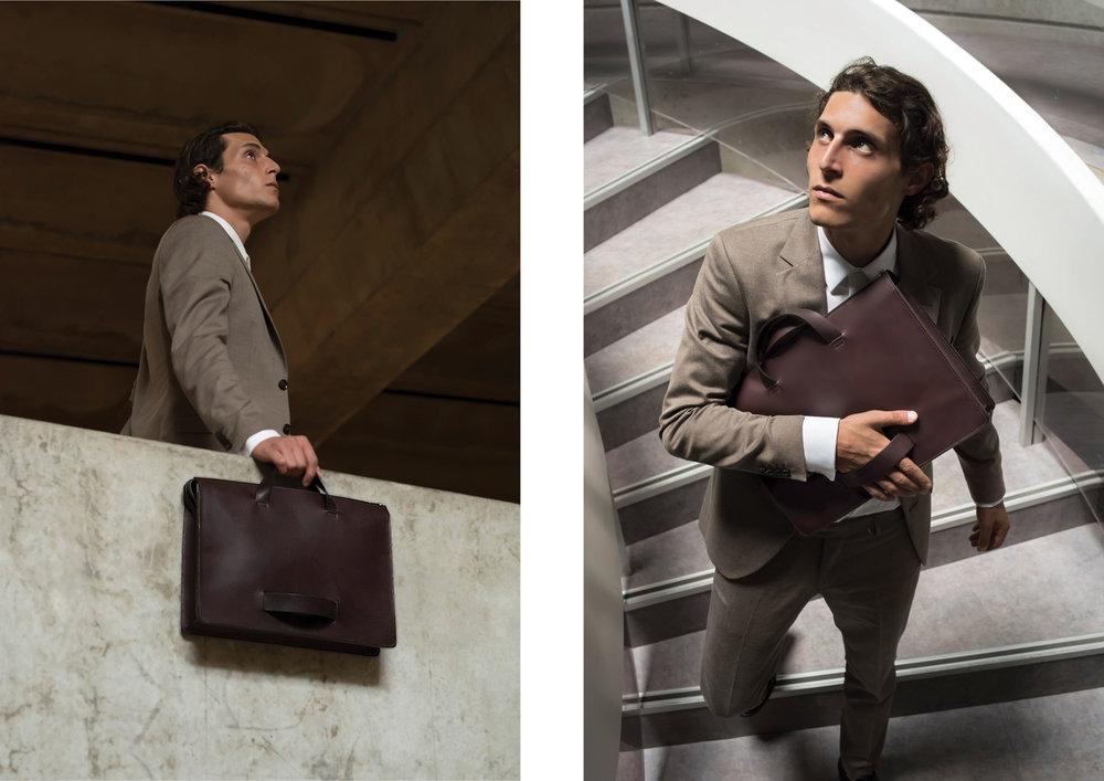 Lookbook Le Feuillet maroquinerie leather goods made in France fabriquée en France intuitive cuir tannage vegetal