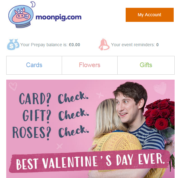 Moonpig Valentines Day Phil McFadden Copywriter – Moonpig Valentines Cards