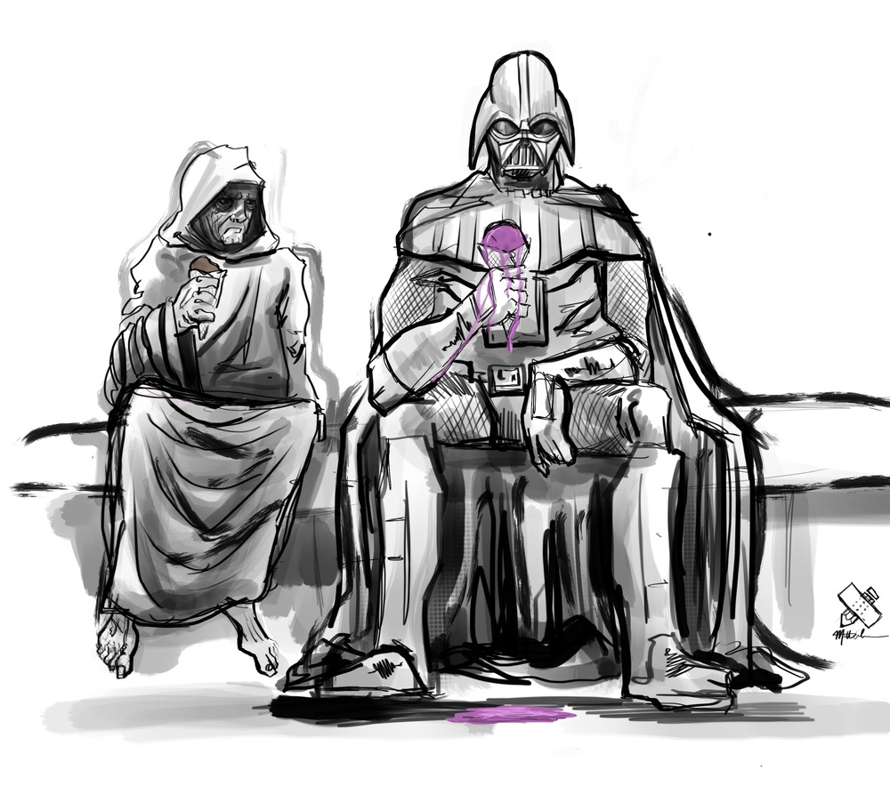 """How's your ice cream Lord Vader?"""