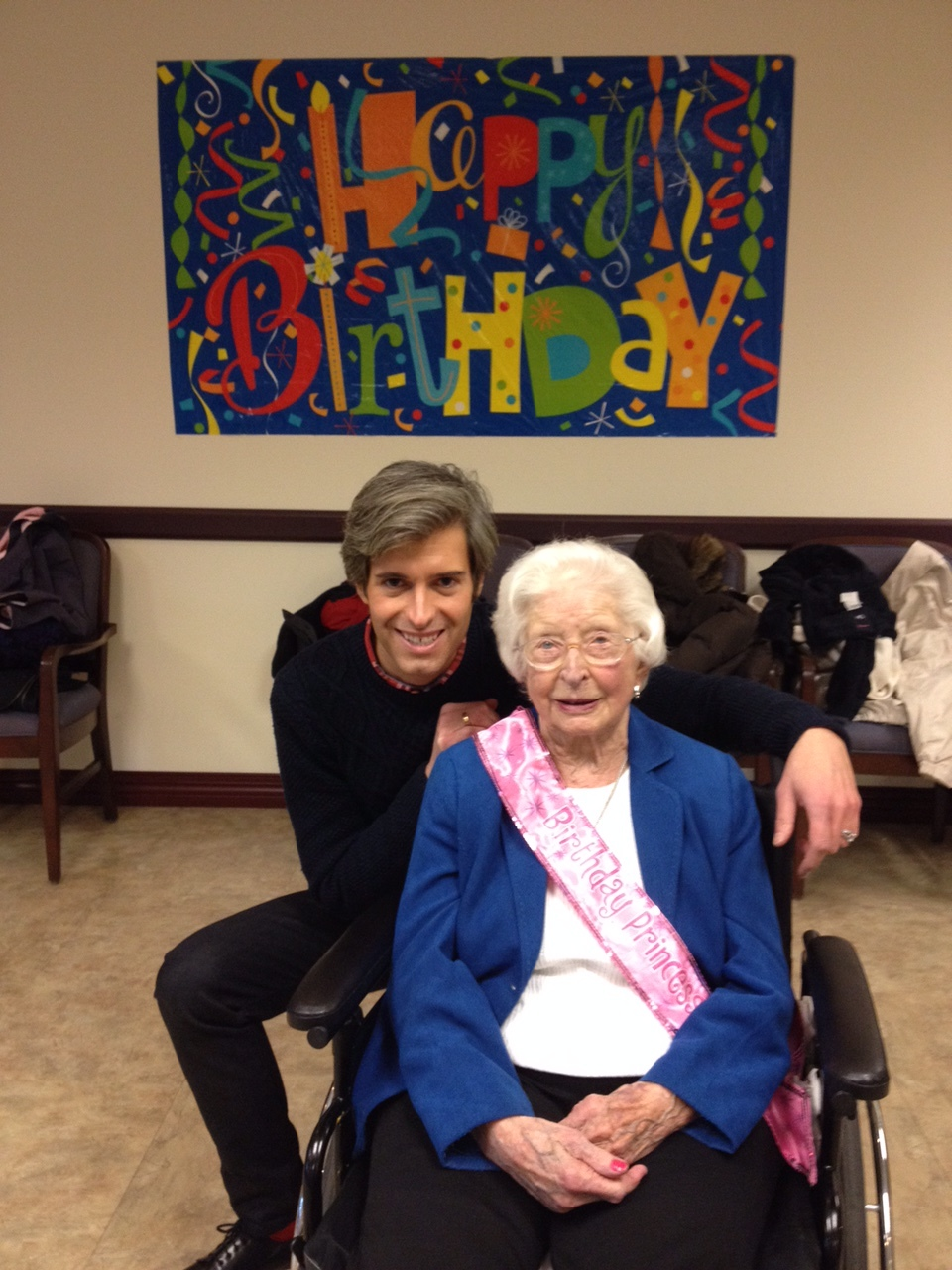 Me & Grandma Mable at her 99th Birthday on December 6th, 2014 (3 weeks before she passed)
