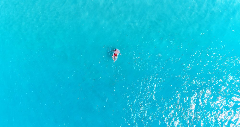 Rafting in Colombier St. Barths. Pic shot on DJI Phantom 4 Pro drone.