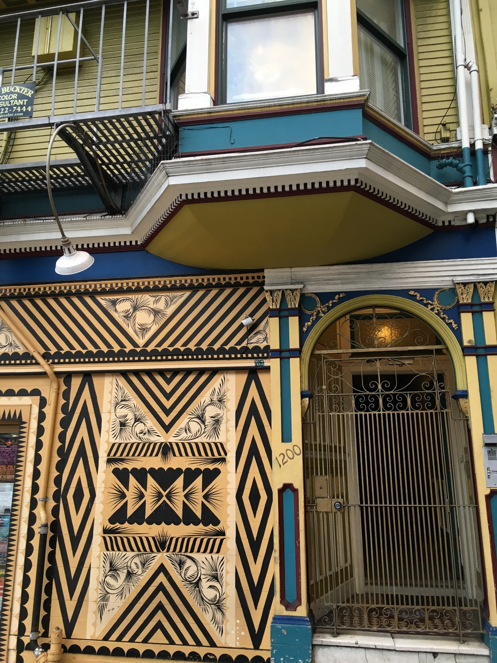 This is the door to our place, and also where the Haunted Haight tour starts. I don't actually know if it's called that but if it isn't, it's a real missed opportunity.