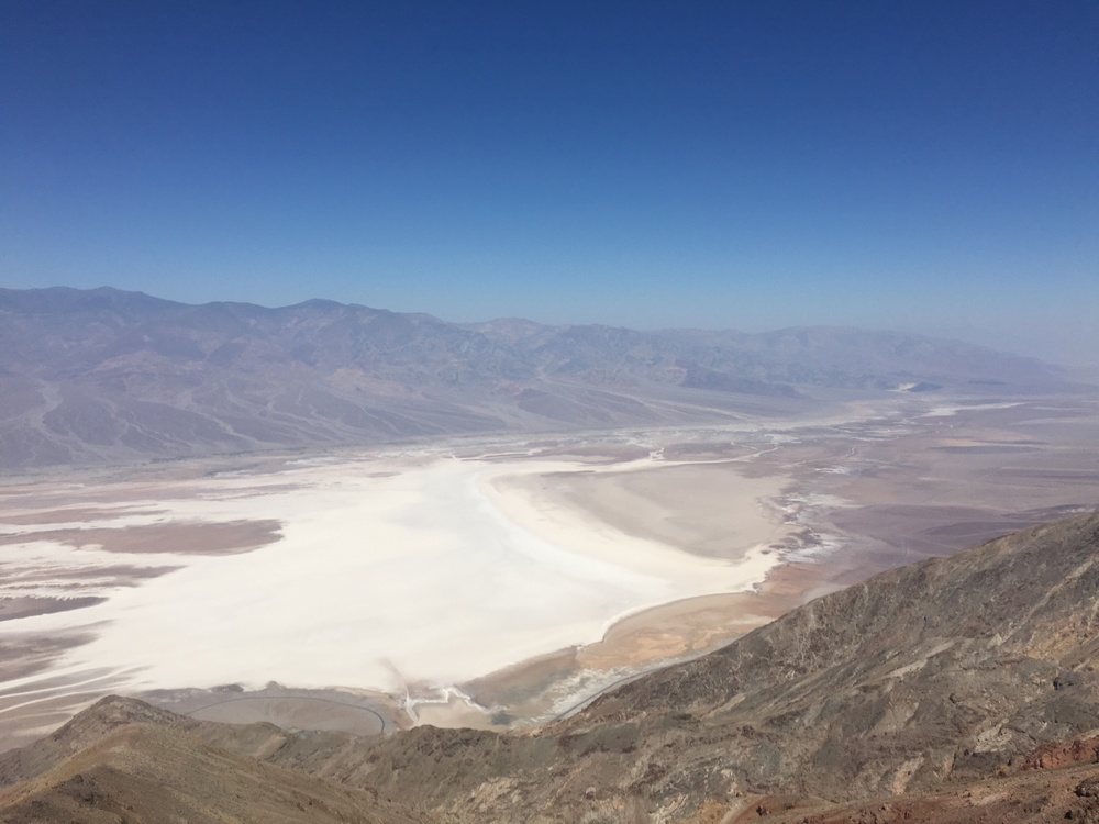 This is taken from Dante's Overlook, and below, the salt flat of Badwater Basin. This was probably the most aggressively visited spot we stopped at, with six or seven other groups there taking photos.