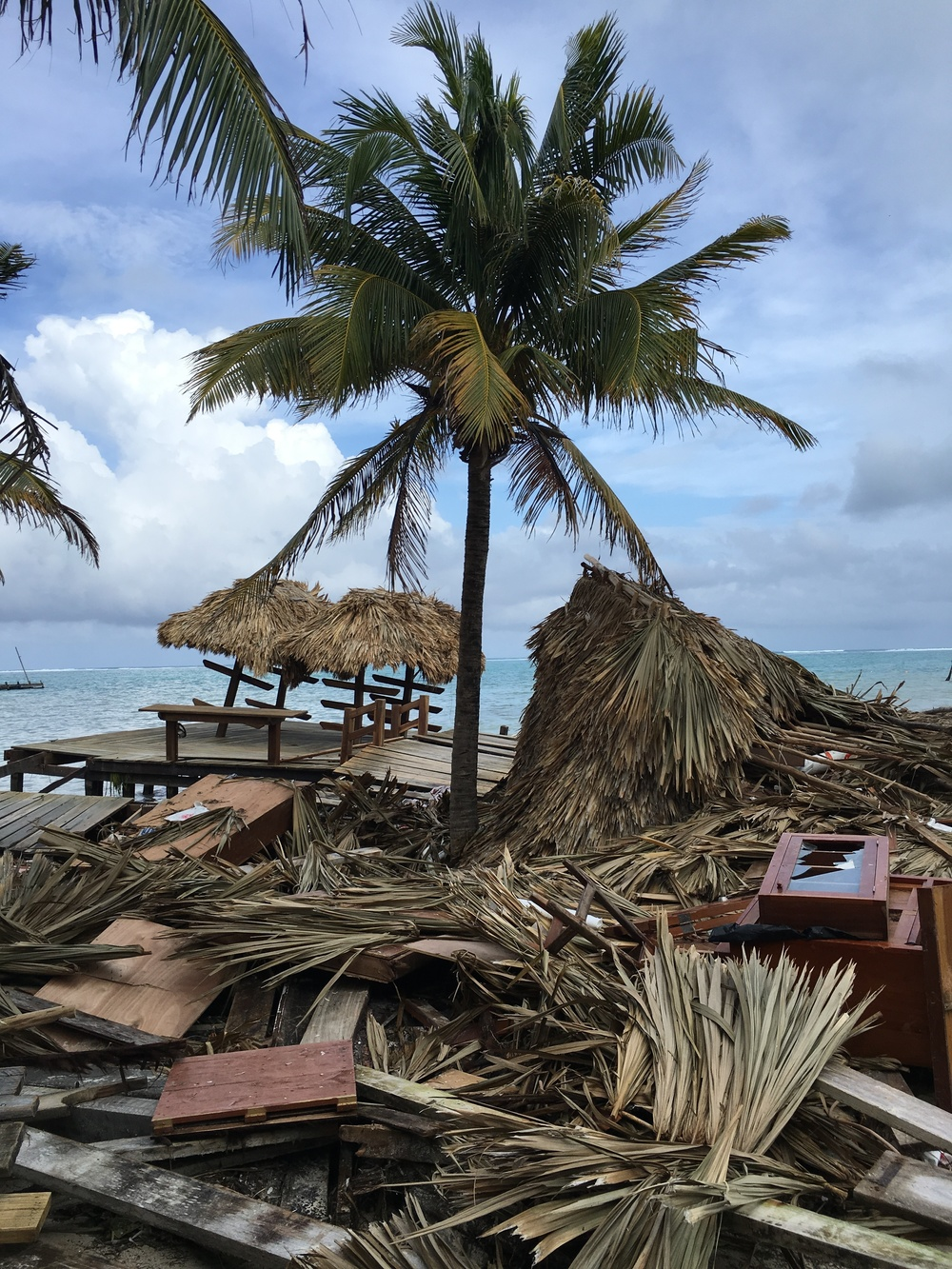 Aftermath of Hurricane Earl on Ambergris Caye