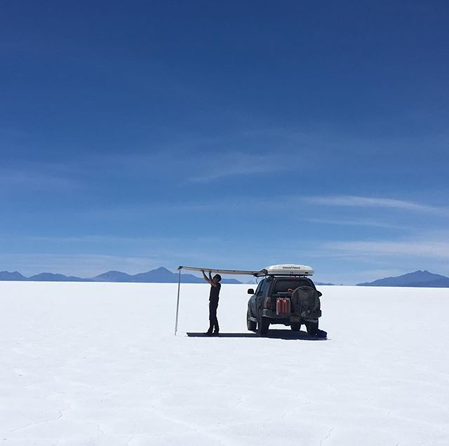 This time last year? Camping in the Salar de Uyuni. . . . #overland #overlanding #lifeontheroad #roadtrip #4Runner #4runnermafia #4by4 #4wd #provenoverland #ioverlander #4runnersdaily #expeditionportal #overlandjournal #adventuremobile #overlandbound #adventurerig #bolivia #salardeuyuni #letsnotpanic #podcast