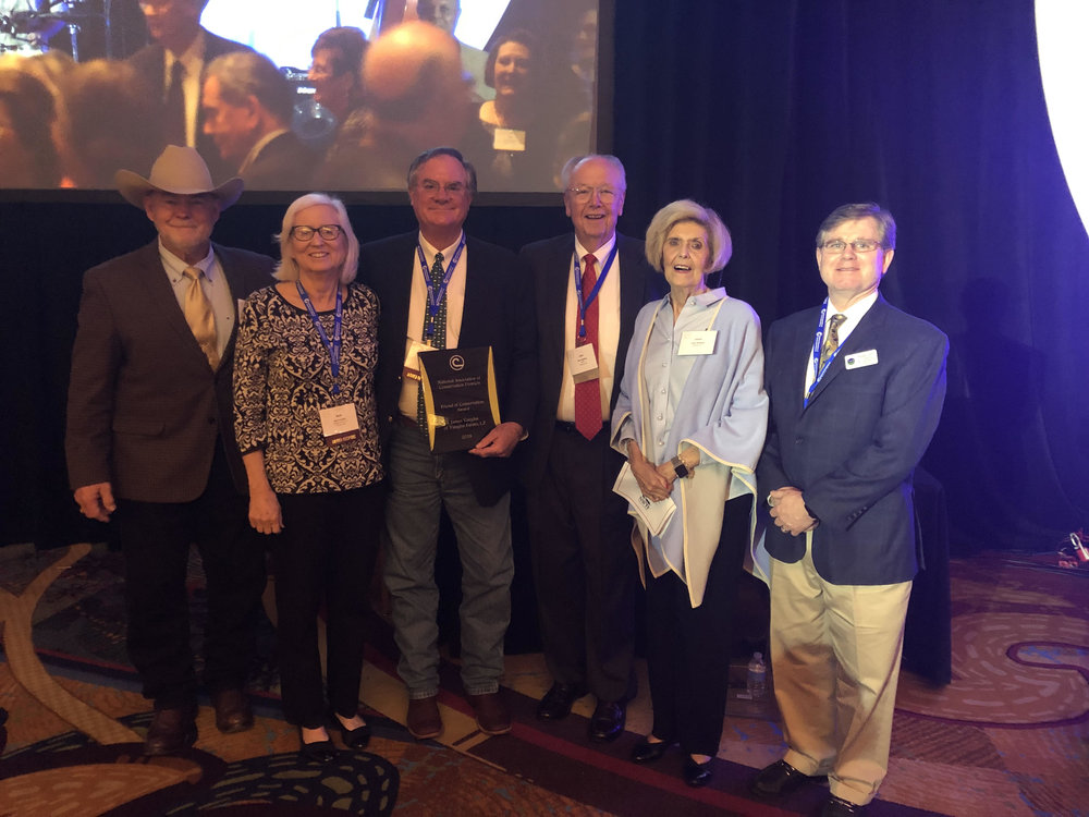 Left to Right: GACD's NACD Representative Danny Hogan, Beth and James Vaughn, NACD Past President John Redding & Levon Redding, GACD President Woody Snell