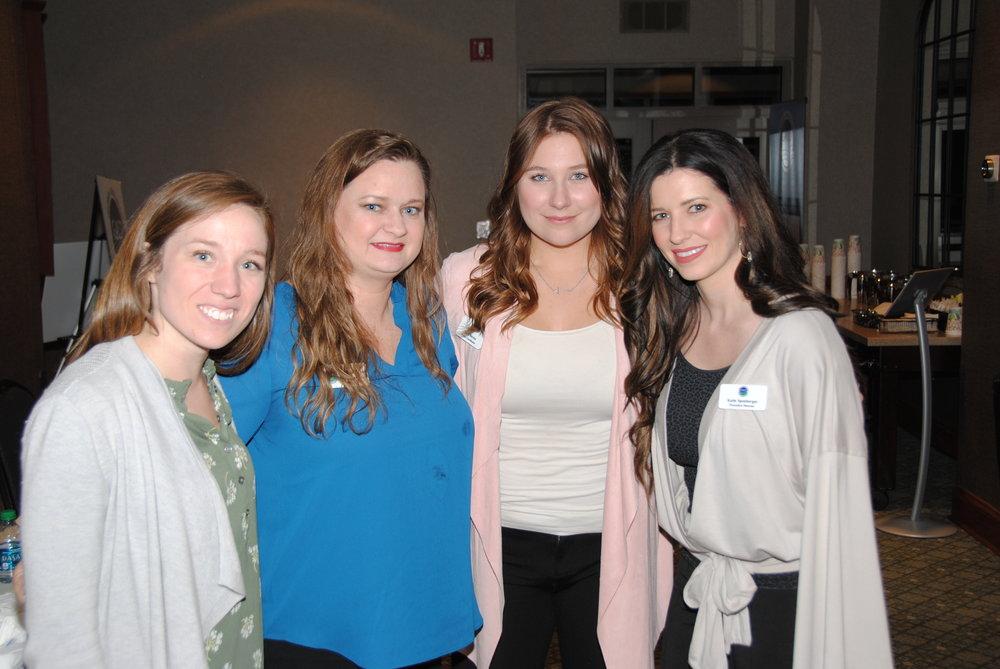 Katie Sanders (North GA Program Manager), Michelle Boone (South GA Program Manager), Mady Barnes (Project Coordinator) and Katie Sponberger (Executive Director)