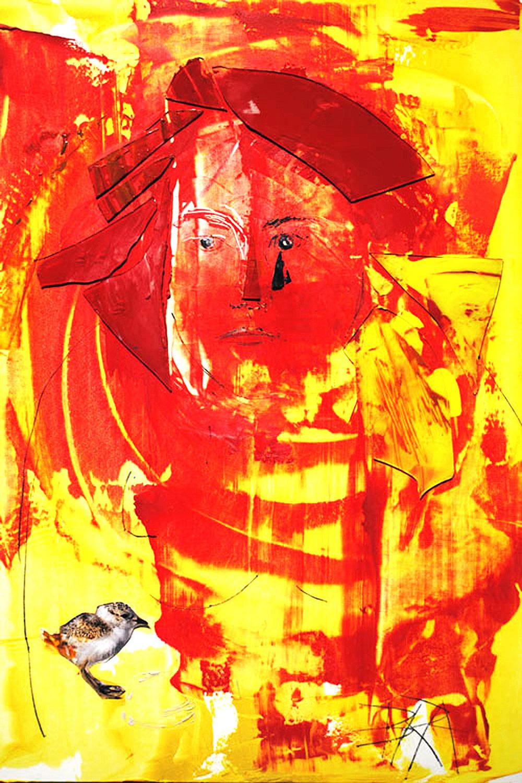 Broken-Red Self Portrait