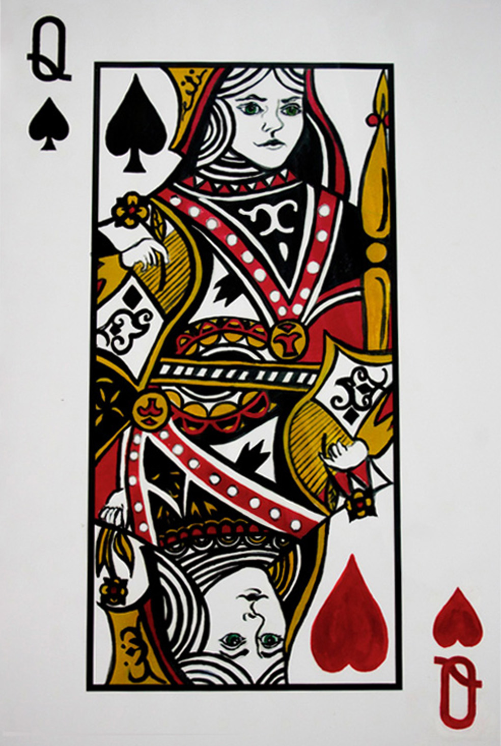 Queen of Hearts or Spades?
