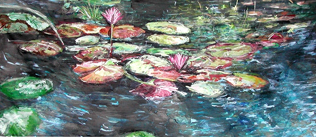 Water Lilies Green