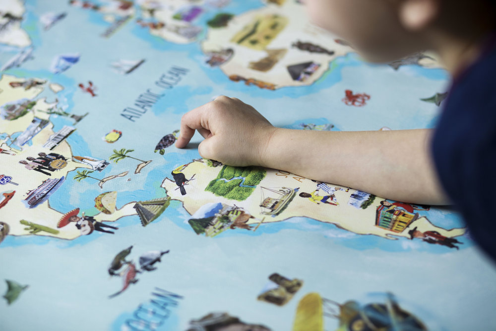 GROW THE NEXT GENERATIONOF WORLD LOVERS - Your customized map of the world is available from C$120 with free shipping!