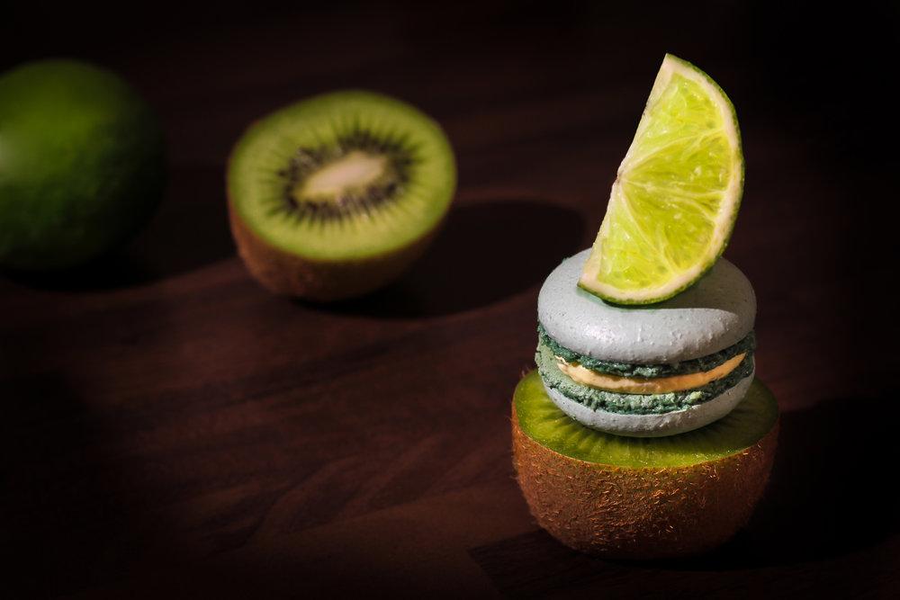 Kiwi & Lime Macarons