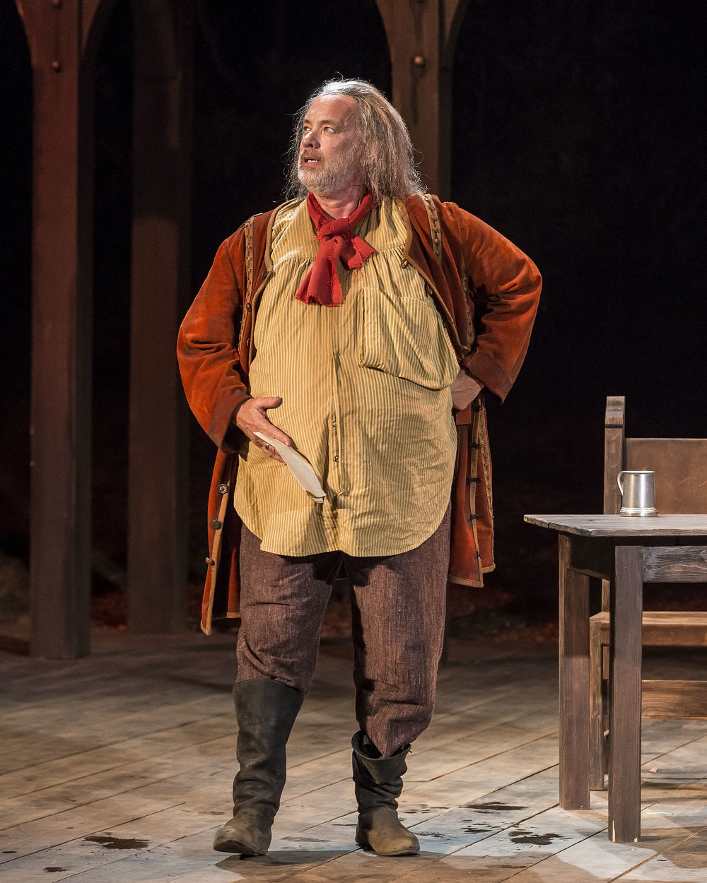 Tom Hanks as Falstaff in HENRY IV (2018)