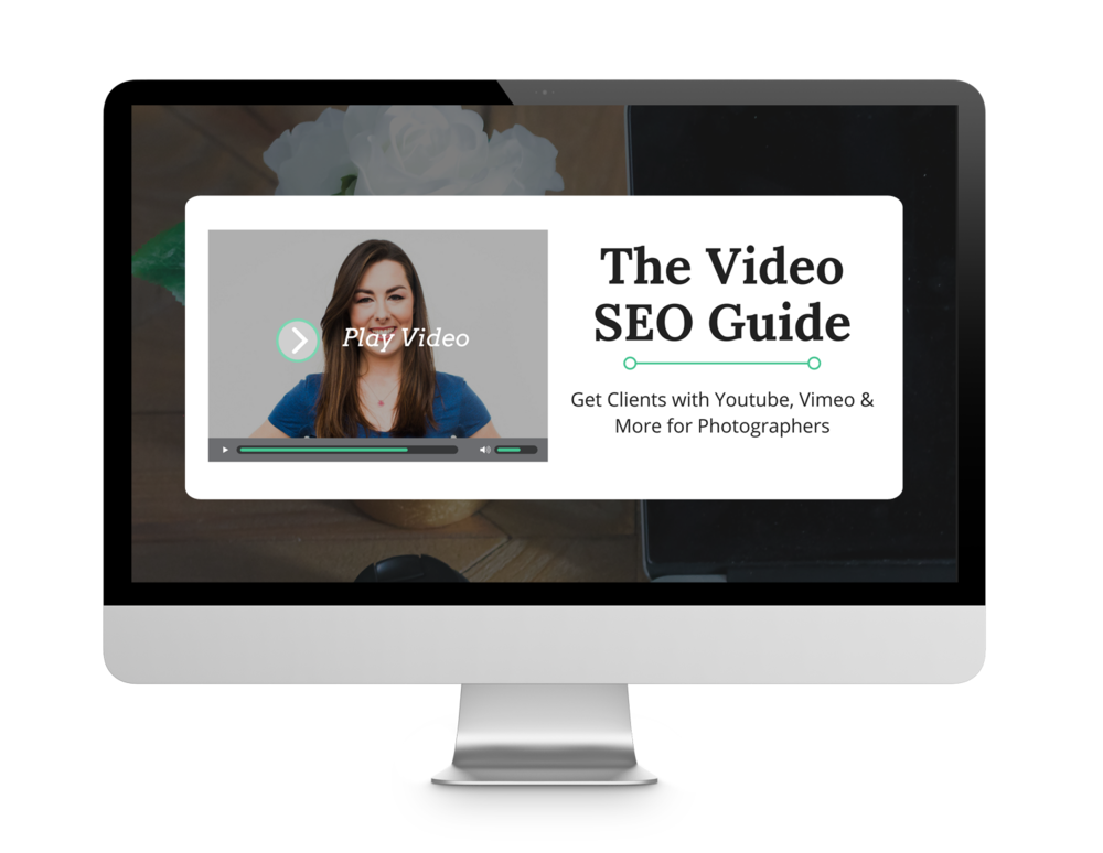 A Mini Course All About Video SEO - How to make super simple videos that show off your photography (no techy skills required) and how to SEO those videos on platforms like Youtube to attract new clients who can't wait to work with you!