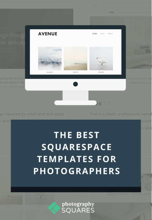 The Best Squarespace Templates For Photographers Photography Squares - Best squarespace template for photographers