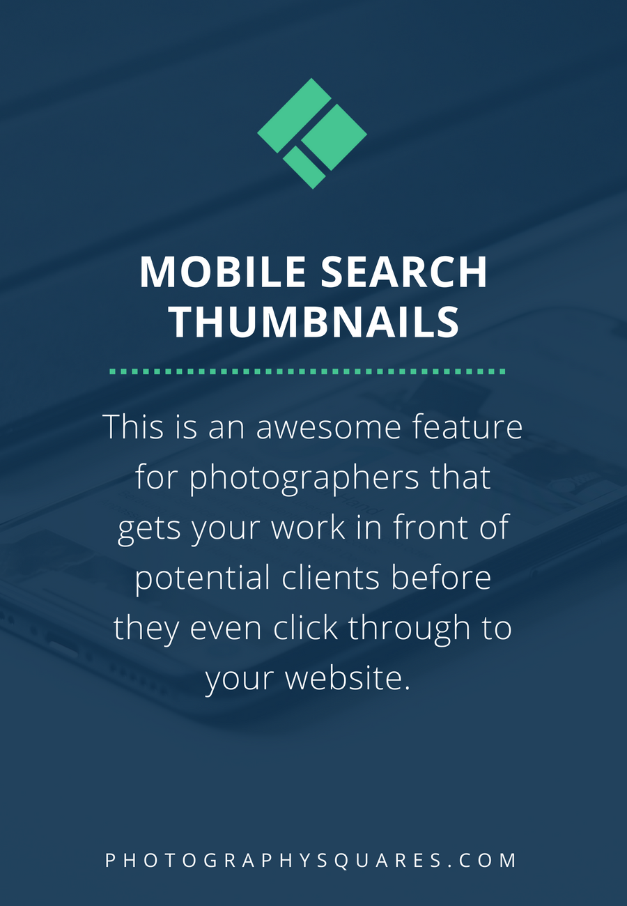 How to Add Mobile Search Thumbnails in Google - a Photographer's Guide