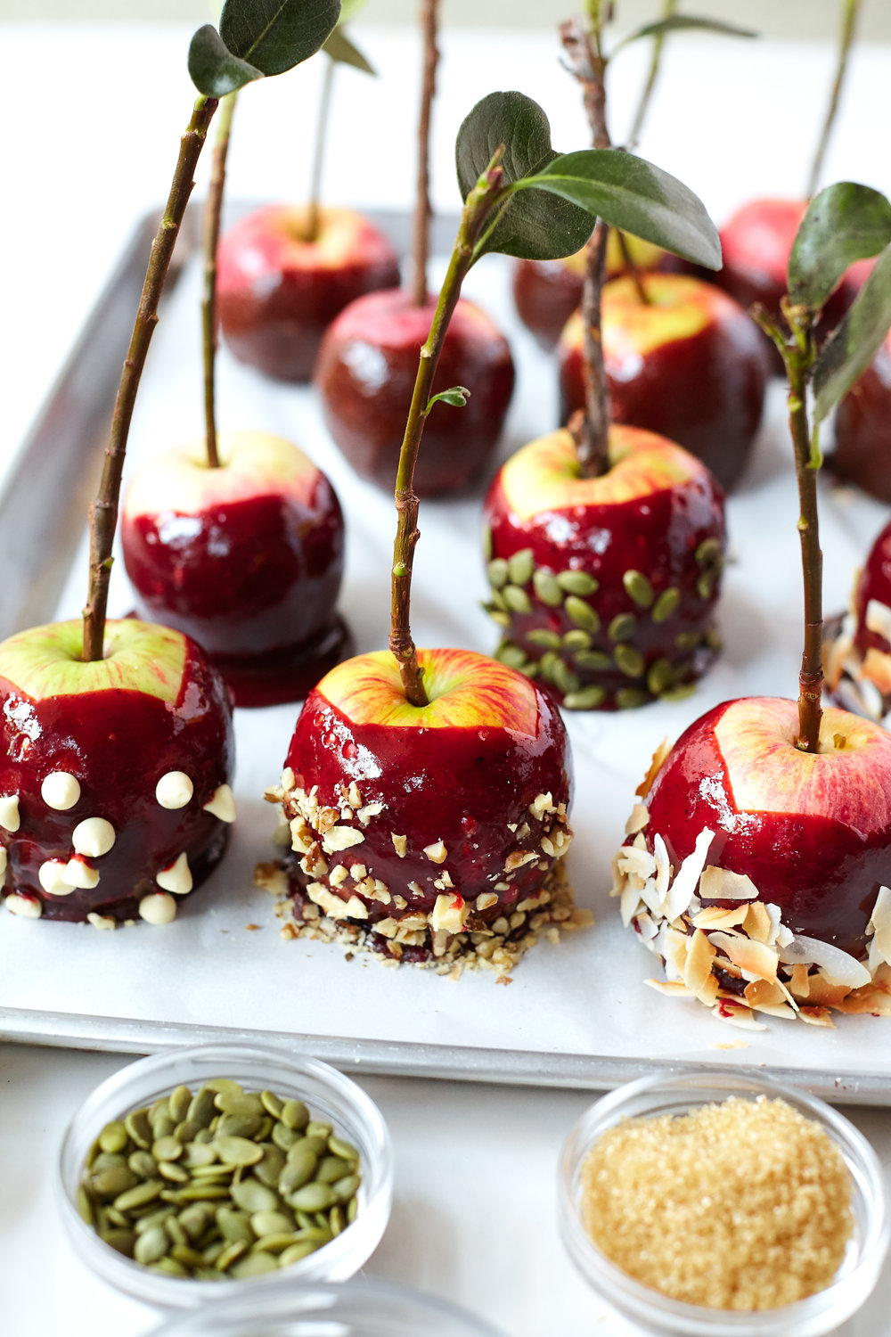 BEET CARAMEL APPLES