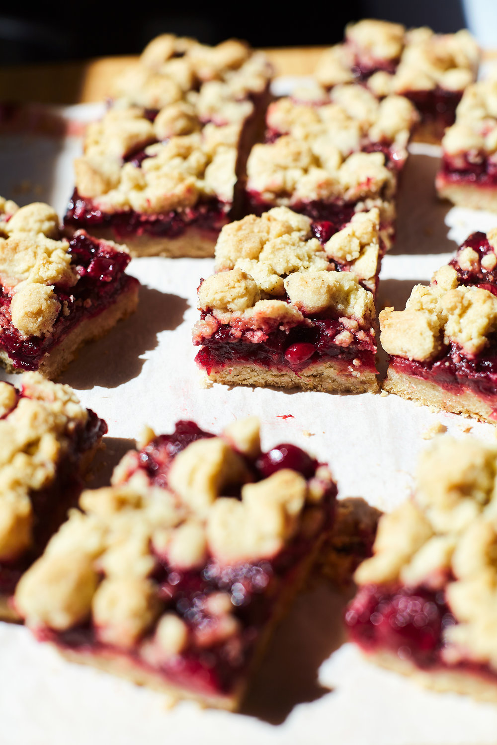 CRANBERRY BEET PIE BARS