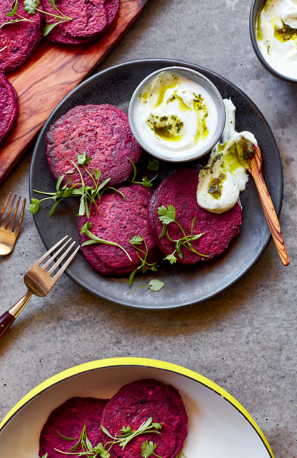 ROSEMARY BEET FRITTERS