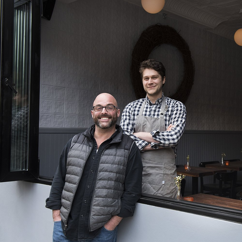 General Manager Liam Seide and Chef John Poiarkoff