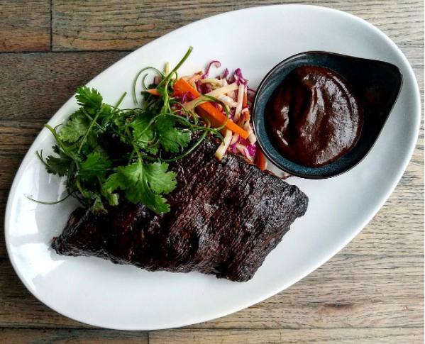 February 12, 2017: Berkshire Pork Ribs, hoisin sauce and sesame slaw