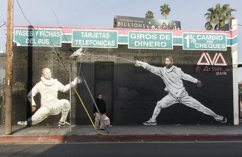 Putin/Obama mural, Little Armenia