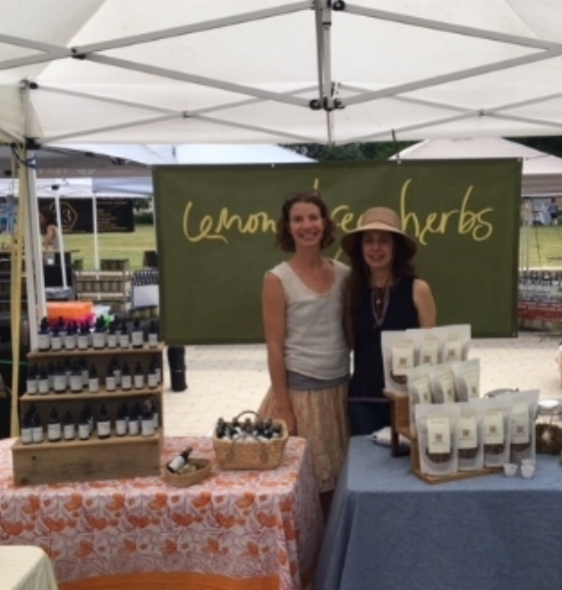 Downtown SFC Market booth shared with Crissy of Marigold Granola