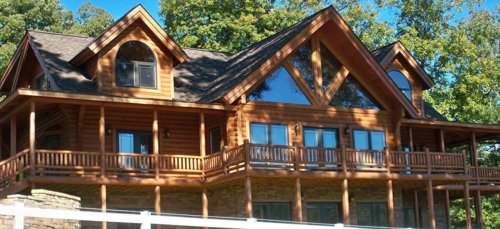 Gable Log Homes Luxury Log Home