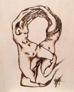 "Finding myself, woodburn by Mariam Qureshi 8""x10"""