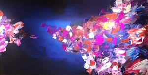 Acrylic Abstract on Canvas by Mohammed Abandeh