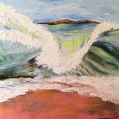 The waves oil by Mariam Qureshi