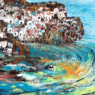 Greek Whirlpool, Oil by Mariam Qureshi