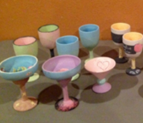 painted stemware before firing