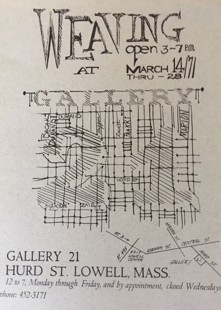 Exhibition announcement, Gallery 21, 1971.
