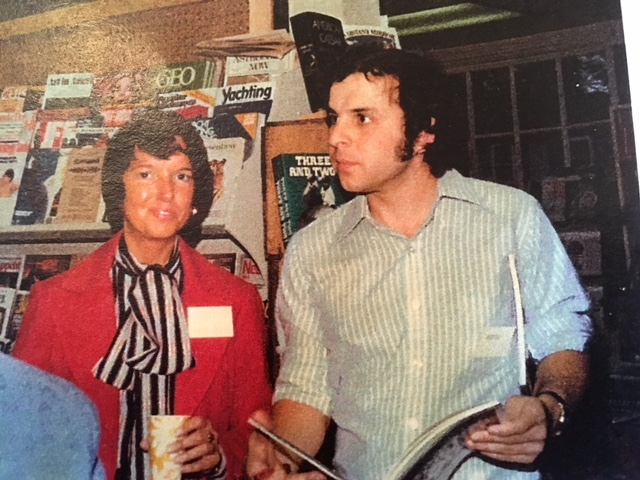 Cynthia Ward and Paul Marion at Lowell Bookworks around 1978.