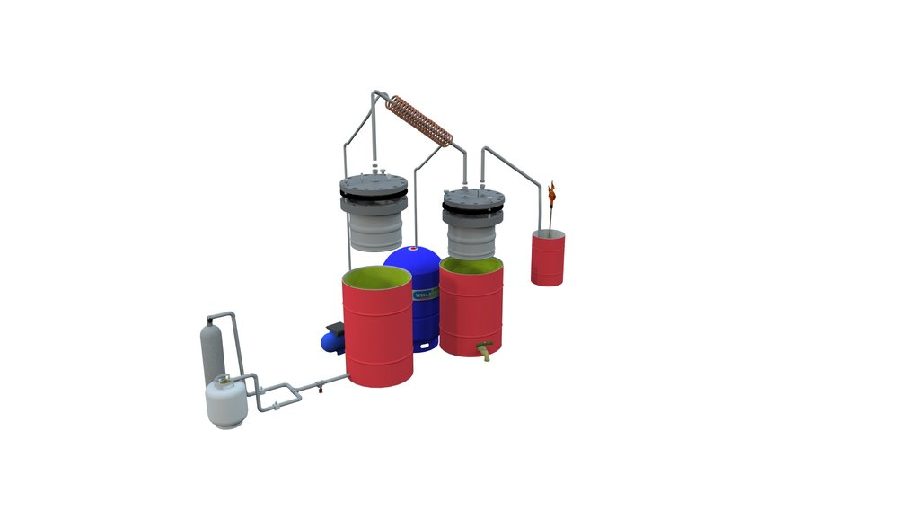 Design for the second iteration of the pyrolyzer to be constructed with the spring 2016 Island School research students