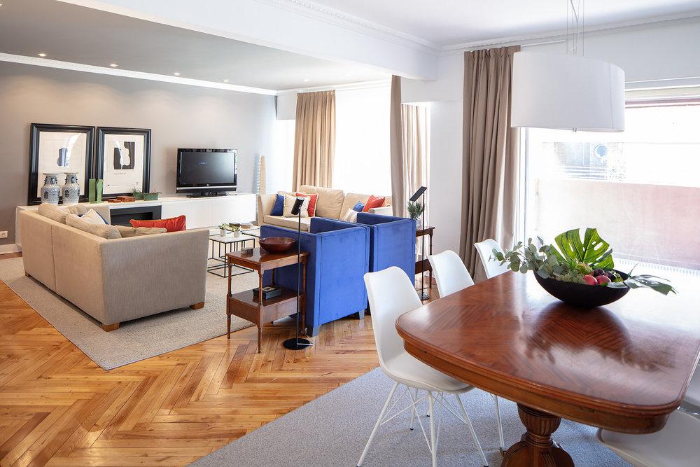 Sala de estar en Proyecto de interiorismo en Getxo