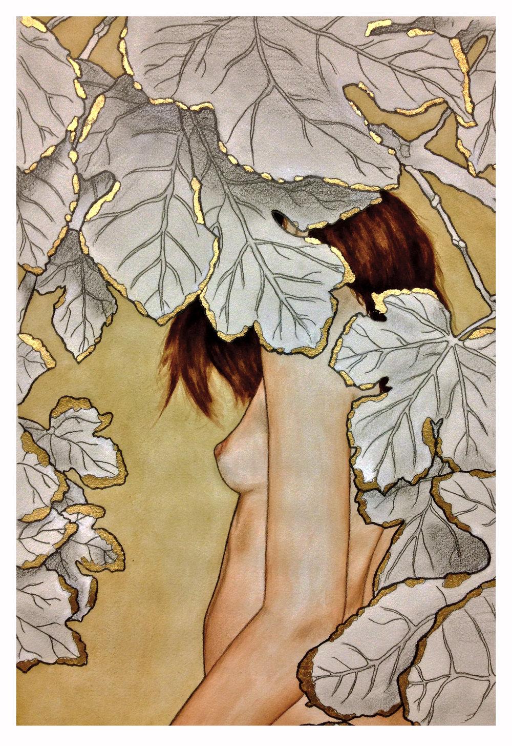 leaves girl - lighter and White Border.jpg