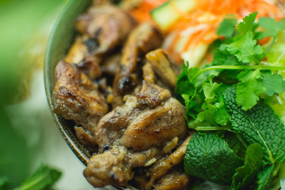 Close up of our Vietnamese grilled chicken  All images shot by  Jenni Quan